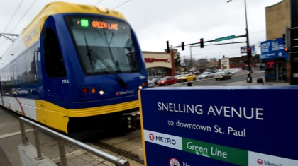 Snelling Avenue Green Line Station in St. Paul
