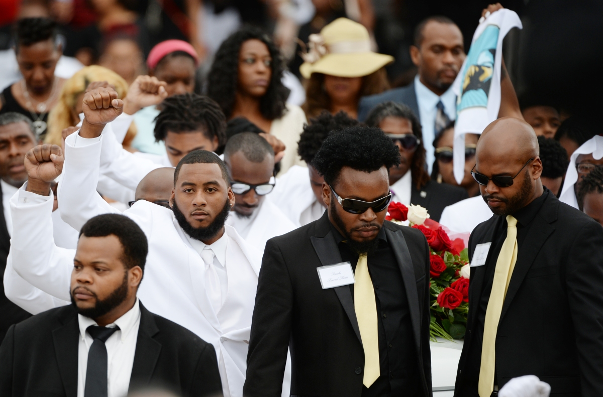 People at Philando Castile's funeral